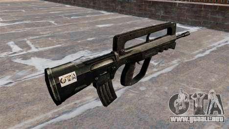Rifle de asalto FAMAS para GTA 4 segundos de pantalla