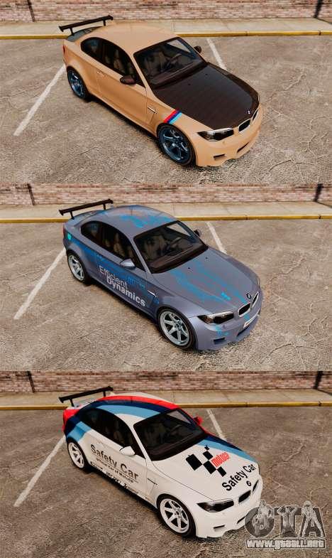 BMW 1M 2014 para GTA 4 vista desde abajo