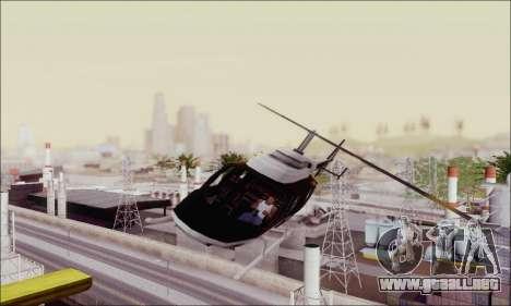 Police Maverick para GTA San Andreas vista hacia atrás