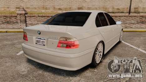BMW 525i (E39) para GTA 4 Vista posterior izquierda