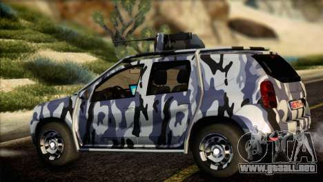 Dacia Duster Army Skin 3 para GTA San Andreas left