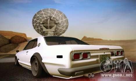 Nissan Skyline 2000GTR 1967 Hellaflush para la visión correcta GTA San Andreas