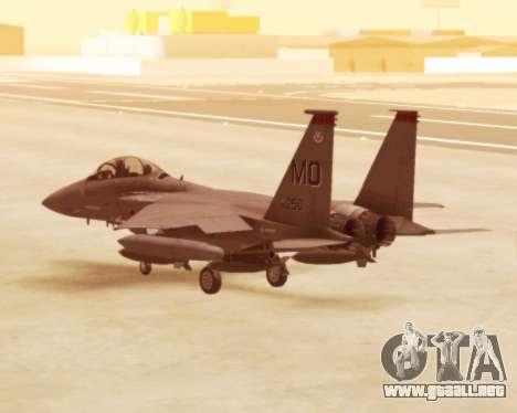 F-15E Strike Eagle para la visión correcta GTA San Andreas