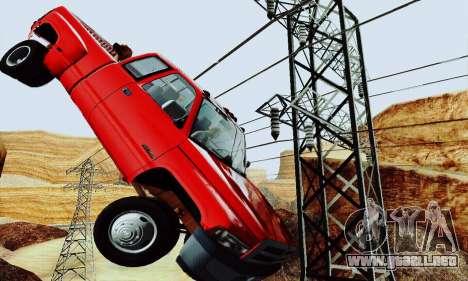 Dodge Ram 3500 para GTA San Andreas vista posterior izquierda