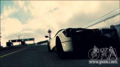 Sonic Unbelievable Shader v7.1 (ENB Series) para GTA San Andreas sucesivamente de pantalla