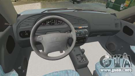 Daewoo Lanos 1997 PL para GTA 4 vista interior