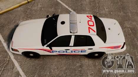 Ford Crown Victoria 2008 LCPD Patrol [ELS] para GTA 4 visión correcta