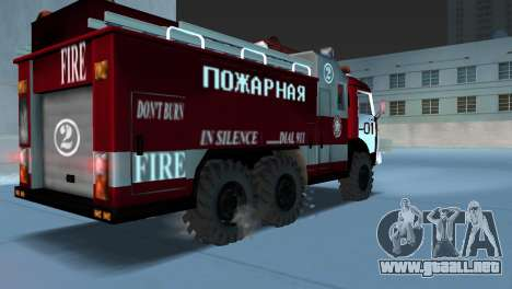 KAMAZ 43101 bombero para GTA Vice City left