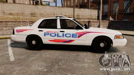 Ford Crown Victoria 2008 LCPD Patrol [ELS] para GTA 4 left