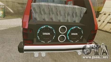 Vaz-21213 Niva LT para GTA 4 vista interior