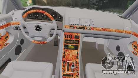 Mercedes-Benz S600 (W140) 1998 para GTA 4 vista lateral