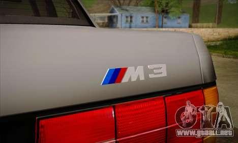 BMW M3 E30 para las ruedas de GTA San Andreas