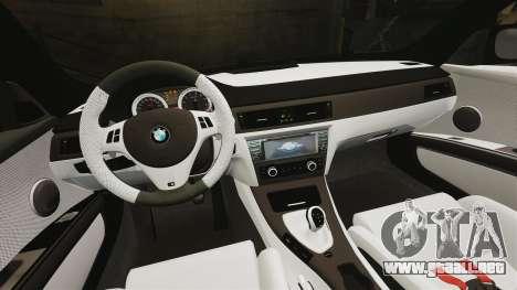BMW M3 GTS Widebody para GTA 4 vista desde abajo