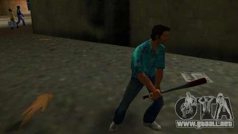 Bate de béisbol ensangrentado para GTA Vice City segunda pantalla
