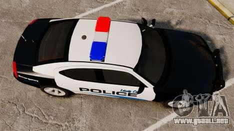 Dodge Charger 2010 Police [ELS] para GTA 4 visión correcta
