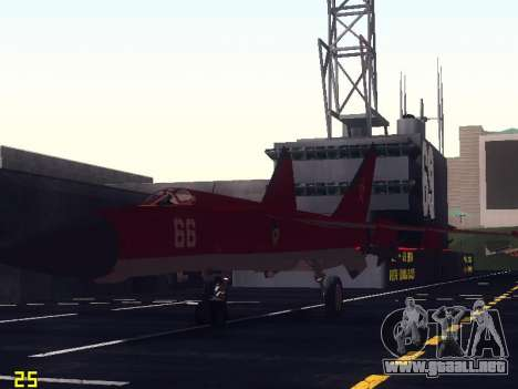 MiG 25 para vista inferior GTA San Andreas