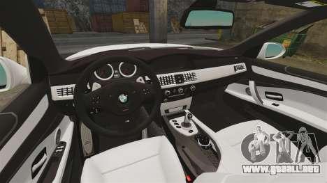 BMW M5 E60 City Of London Police [ELS] para GTA 4 vista interior