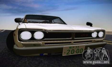 Nissan Skyline 2000GTR 1967 Hellaflush para GTA San Andreas interior