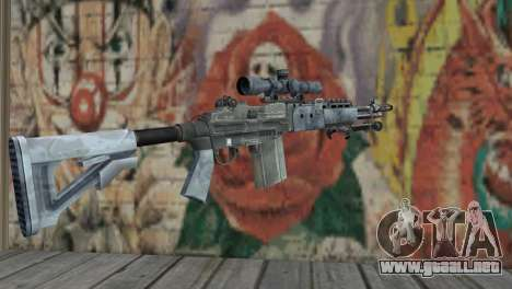 M14 EBR Blue Tiger para GTA San Andreas segunda pantalla