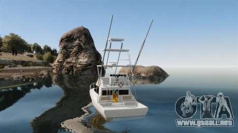 Sport fishing yacht para GTA 4 Vista posterior izquierda