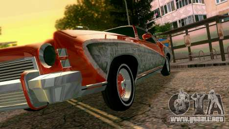 Chevy Monte Carlo Lowrider para GTA Vice City vista superior