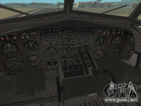 Fairchild C-123 Provider para GTA San Andreas vista hacia atrás