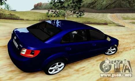 Kia Rio II 2009 para GTA San Andreas vista posterior izquierda