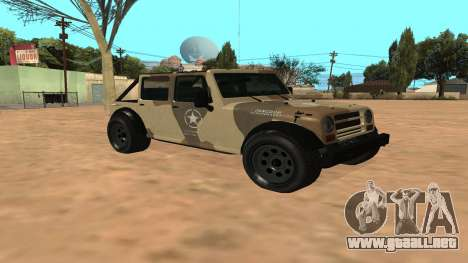 Crusader GTA 5 para GTA San Andreas left
