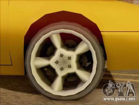 Stratum Sedan Sport para GTA San Andreas vista posterior izquierda