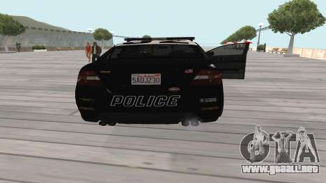 GTA V Police Cruiser para la visión correcta GTA San Andreas