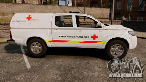 Toyota Hilux French Red Cross [ELS] para GTA 4 left