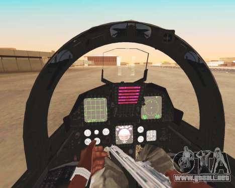 F-15E Strike Eagle para vista inferior GTA San Andreas