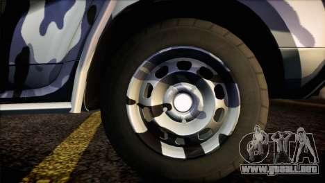 Dacia Duster Army Skin 3 para GTA San Andreas vista posterior izquierda