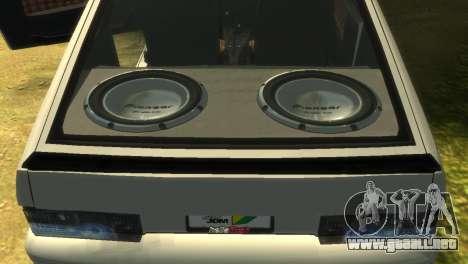 2113 VAZ para GTA 4 vista desde abajo