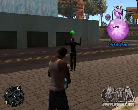 C-HUD Dony Scofield para GTA San Andreas segunda pantalla