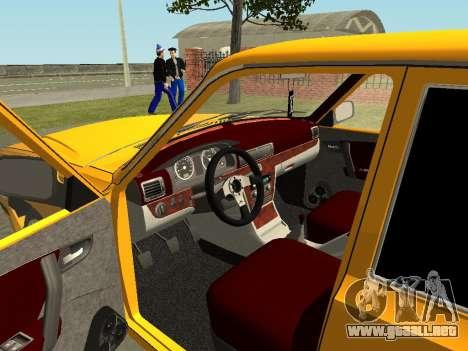 Volga GAZ 31105 para visión interna GTA San Andreas