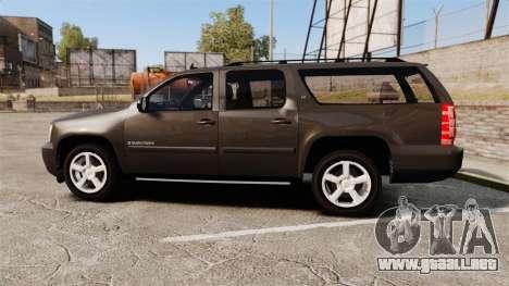 Chevrolet Suburban Slicktop 2008 [ELS] para GTA 4 left