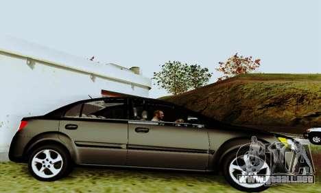 Kia Rio II 2009 para GTA San Andreas vista hacia atrás