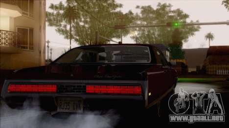 Chrysler New Yorker 4 Door Hardtop 1971 para visión interna GTA San Andreas