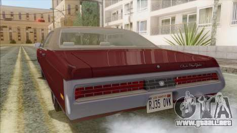 Chrysler New Yorker 4 Door Hardtop 1971 para GTA San Andreas left