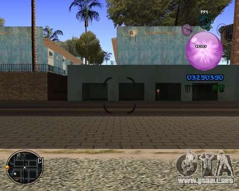 C-HUD Dony Scofield para GTA San Andreas tercera pantalla