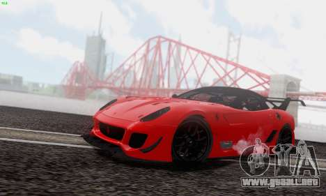 Ferrari 599XX Evolution para vista lateral GTA San Andreas