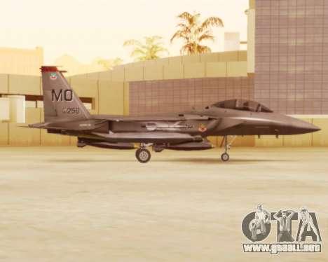 F-15E Strike Eagle para GTA San Andreas vista posterior izquierda