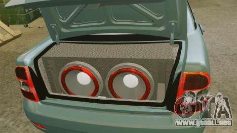 Vaz-2170 Lada Priora para GTA 4 vista interior