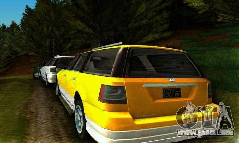 Landstalker GTA IV para GTA San Andreas vista posterior izquierda