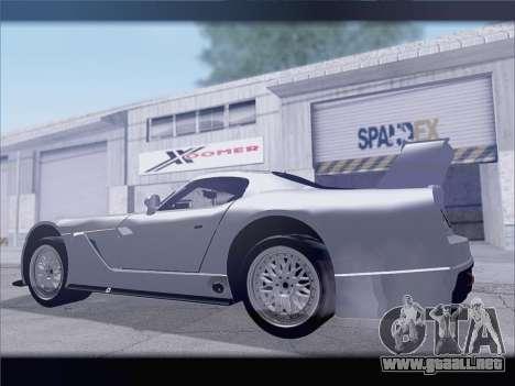 Dodge Viper Competition Coupe para GTA San Andreas vista hacia atrás