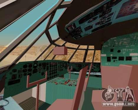Il-76td IlAvia para la vista superior GTA San Andreas