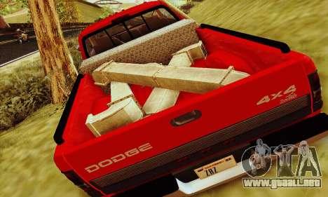 Dodge Ram 3500 para GTA San Andreas vista hacia atrás