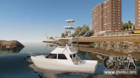 Sport fishing yacht para GTA 4 left