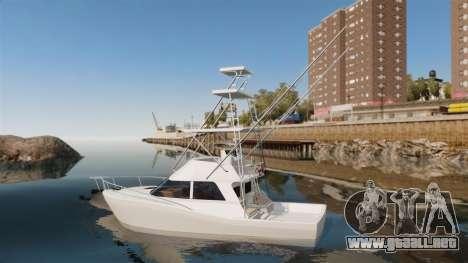 Sport fishing yacht para GTA 4 left